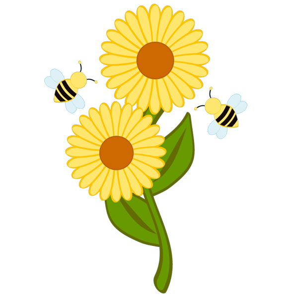 naklejkascienna : Naklejka ścienna Dla Dzieci - Kwiatek i Pszczoły