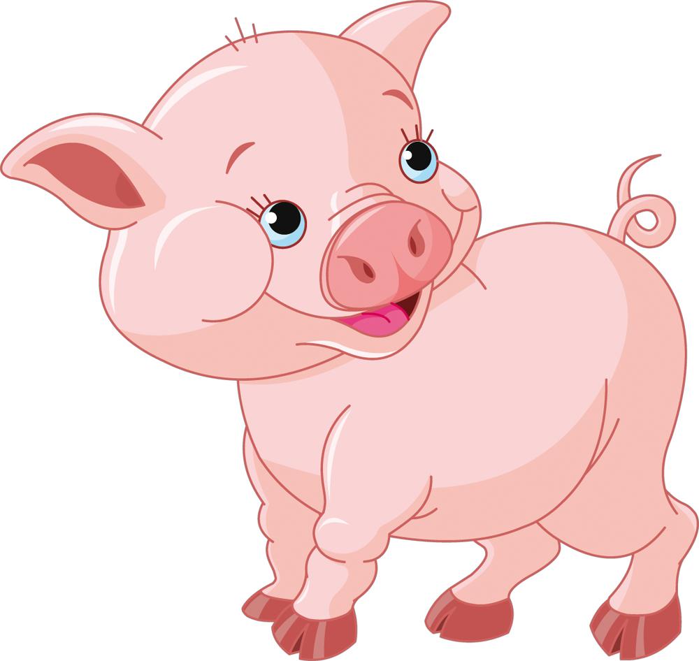 naklejkascienna : Naklejka ścienna Dla Dzieci - Świnka