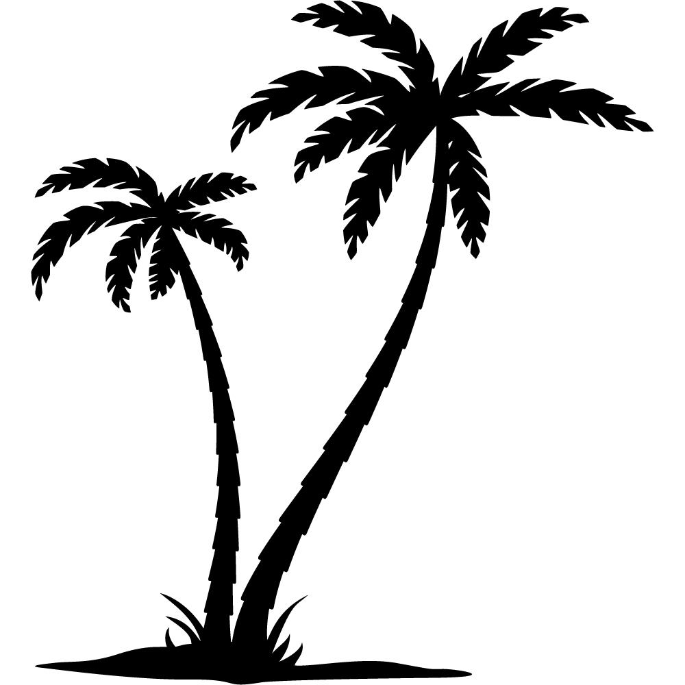 Картинки трафареты пальмы