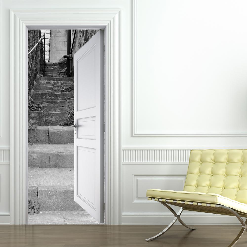 Naklejkascienna naklejka na drzwi schody - Decor de portes interieures ...